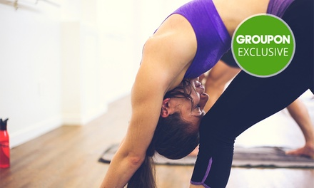 1 Month of Unlimited Hot Yoga & Pilates Classes for 1 ($39), 2 ($75) or 4 People ($145) at Sweat Yoga(Up to $660 Value)