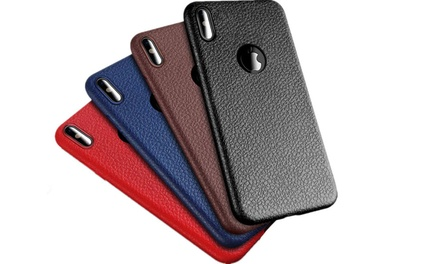 $9.95 for an Ultra Thin PU Leather Protective Case for iPhone 6/6S, 6/6S Plus, 7/8, 7/8 Plus or X/XS