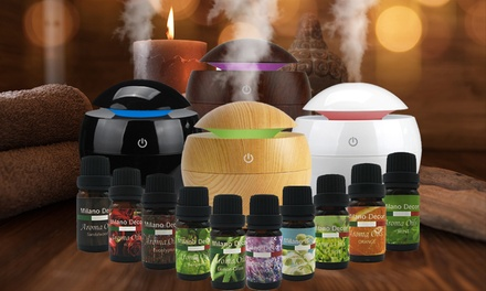 $30.95 for a Milano USB Essential Oil Diffuser with 10 Pack of Essential Oils