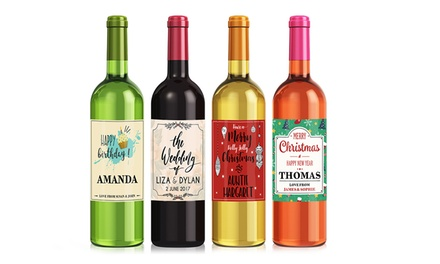 Personalised Wine Labels: Four ($4), Eight ($7) or Twelve ($12) (Dont Pay up to $230.28)