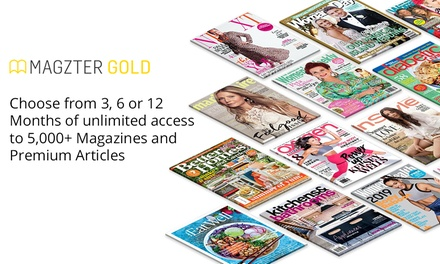 Unlimited Online Magazines: 3 Months ($14.99), 6 Months ($19.99) or 12 Months ($29.99) from Magzter (Up to $148 Value)
