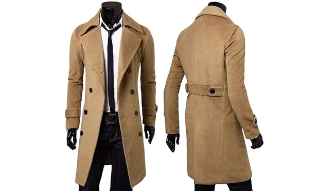 $39 for a Mens Wool Blend Overcoat