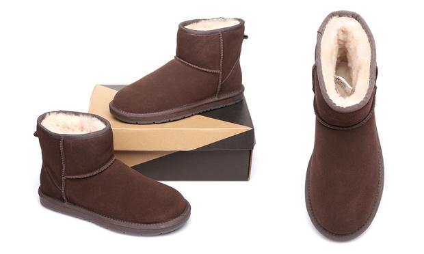 $65 for a Pair of Australian Shepherd® Suede A Grade Australian Sheepskin Lining UGG Ankle Boots
