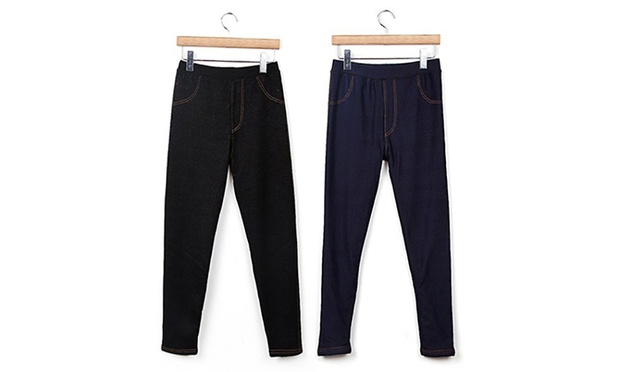 Ultra Thick Fleece Lined Jeggings: One ($19) or Two Pairs ($29)