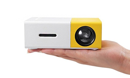 YG300 Mini Portable LED Projector: without Battery ($69.95) or with Battery ($84.95)