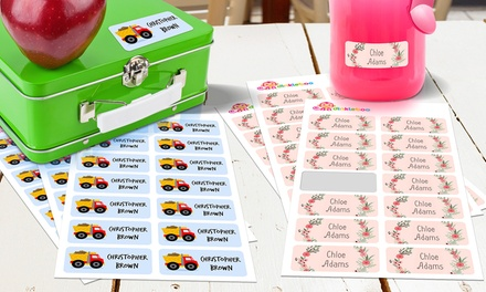 From $5 for a 48 Pack of Personalised Childrens Vinyl Name Labels (Dont Pay up to $99.95)