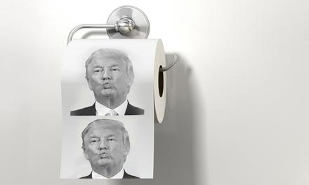 Donald Trump Toilet Paper Rolls: Two ($9.95), Five ($16.95) or Ten ($26.95)