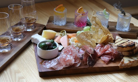 Gin or Whiskey Tasting + Charcuterie & Cheese Board: 2 ($59), 4 ($118) or 6 Ppl ($177) at The Hudson (Up to $357 Value)